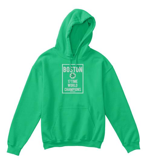 Boston 17 Time World  Champions #Forthebean Irish Green T-Shirt Front
