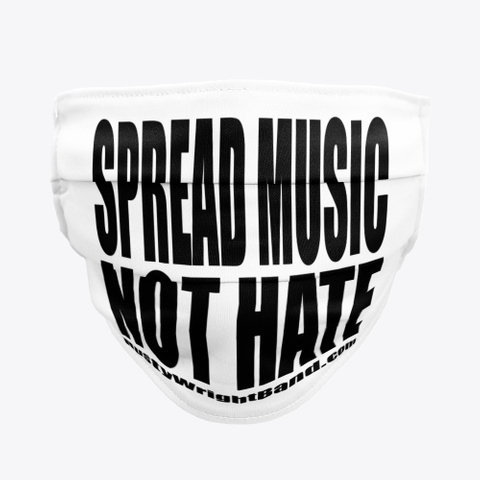 Spread Music Not Hate Mask Standard T-Shirt Front