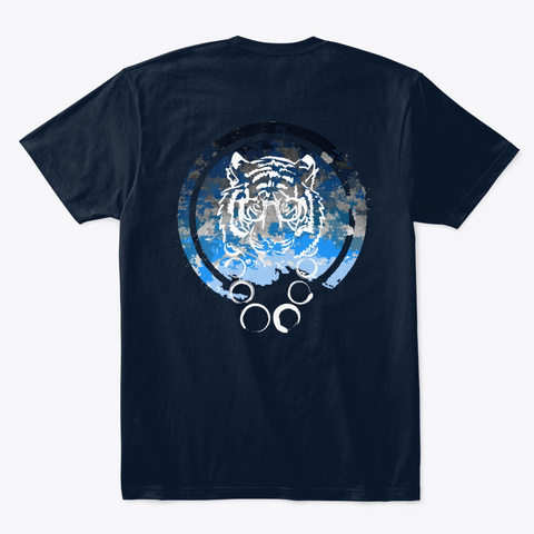 Tiger Emblem  New Navy T-Shirt Back