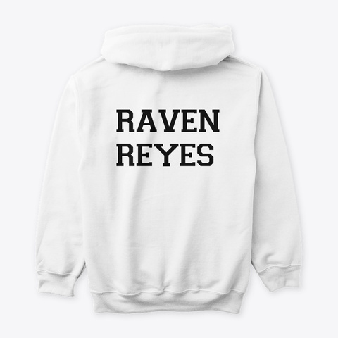 Raven Reyes Evolution Collection White T-Shirt Back
