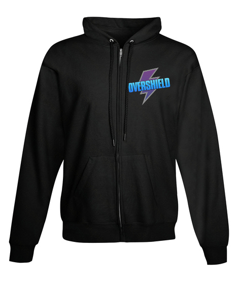 Overshield Zip Up   Game Merch (Us) Black Sweatshirt Front