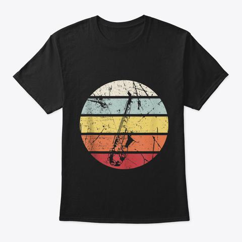Funny Saxophone Jazz Music Sax Musician  Black T-Shirt Front