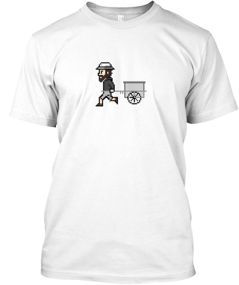 The Longest Pixel (White) White T-Shirt Front