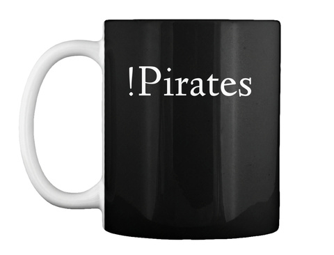 !Pirates Black T-Shirt Front