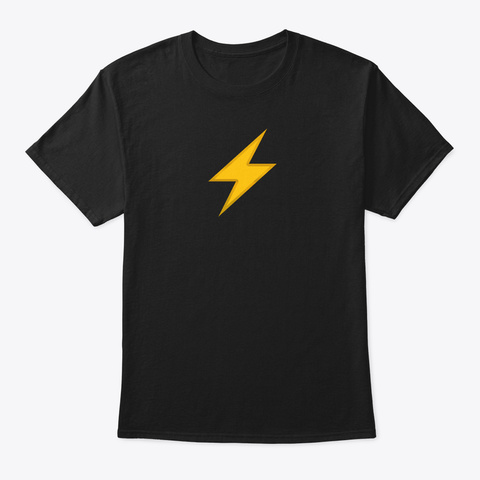 Sonichu   Lightning Black T-Shirt Front