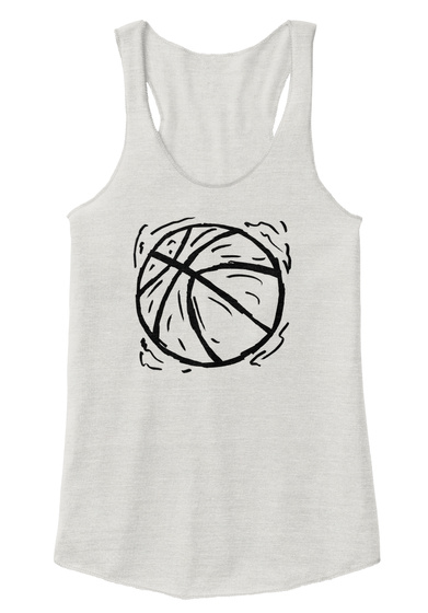 Women's Basketball Tank Top Racerback Eco Ivory  T-Shirt Front