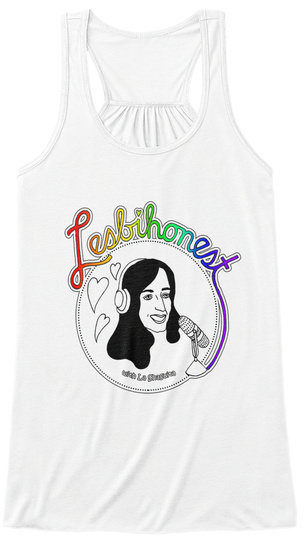 Lesbihonest Fashion Drive White Women's Tank Top Front