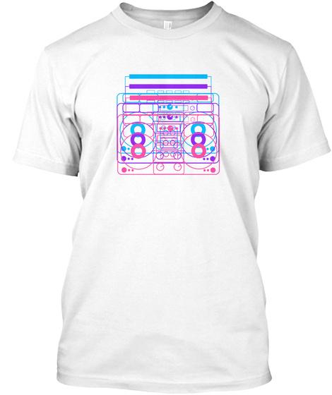 Retro Radio Light White T-Shirt Front