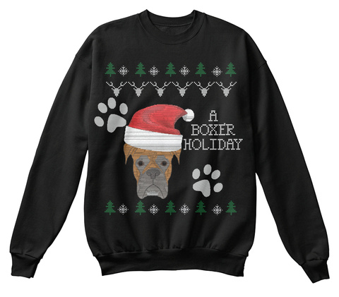 A Boxer Holiday Black Sweatshirt Front