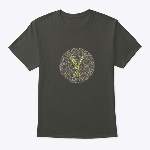 """Y"" Eye Test Letter Circle Smoke Gray T-Shirt Front"