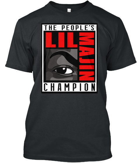 The People's Champion (Red) Black T-Shirt Front