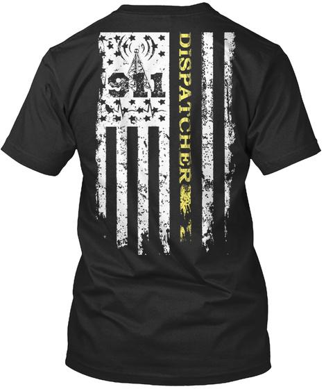 911 Disoatcher Black T-Shirt Back