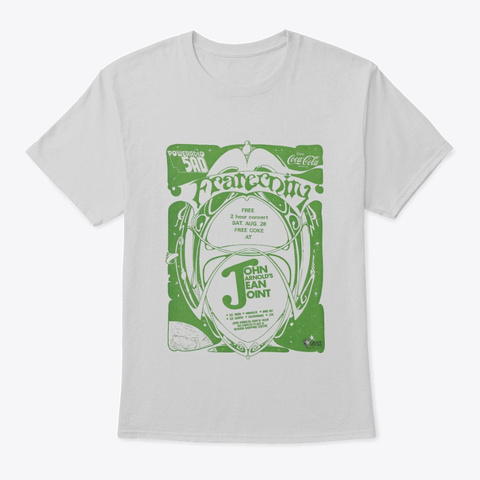 Fraternity   5 Ad Gig Poster Light Steel T-Shirt Front