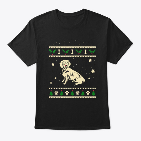 Christmas Alpine Dachsbracke Gift Black T-Shirt Front