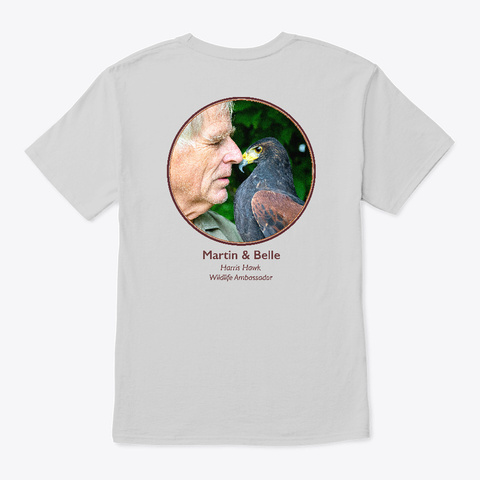 Martin & Belle The Harris Hawk Light Steel T-Shirt Back