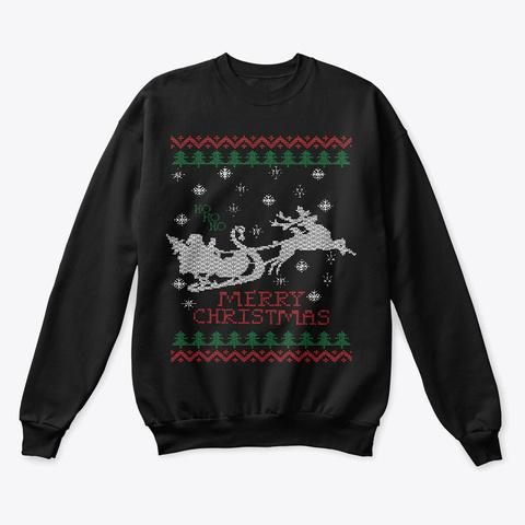 Ugly  Christmas Santa  Apparel Black T-Shirt Front