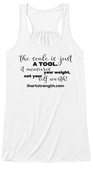 Scale Is A Tool   Black White Women's Tank Top Front