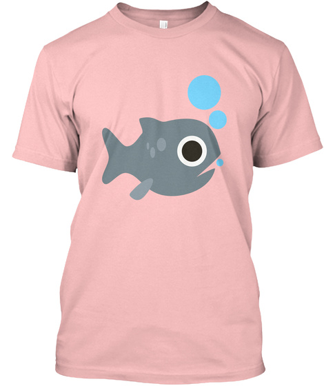 Fish Pale Pink T-Shirt Front