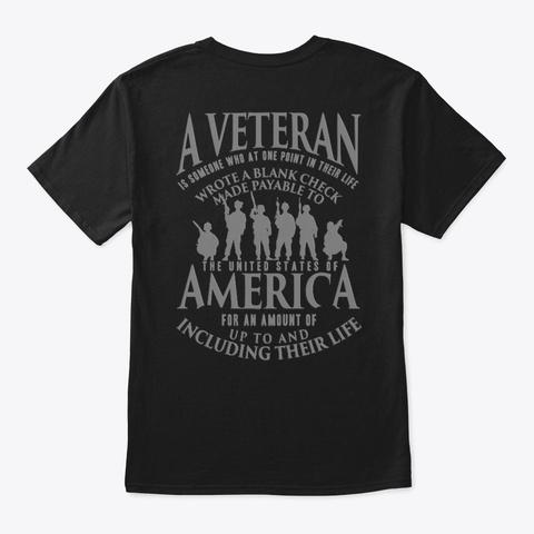 Veteran   Soldier   Military   Vet   002 Black T-Shirt Back