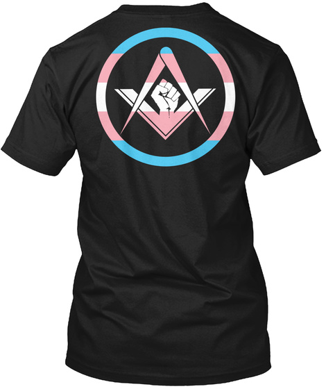 Masonic Trans Black Lives Matter Black T-Shirt Back