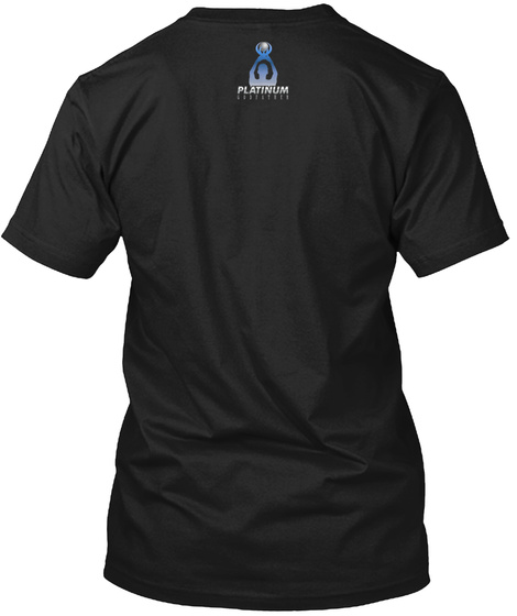 Platinum Black T-Shirt Back