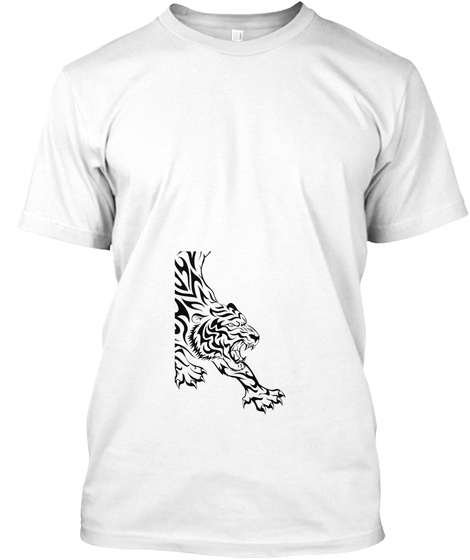 T Shirt Tiger White T-Shirt Front