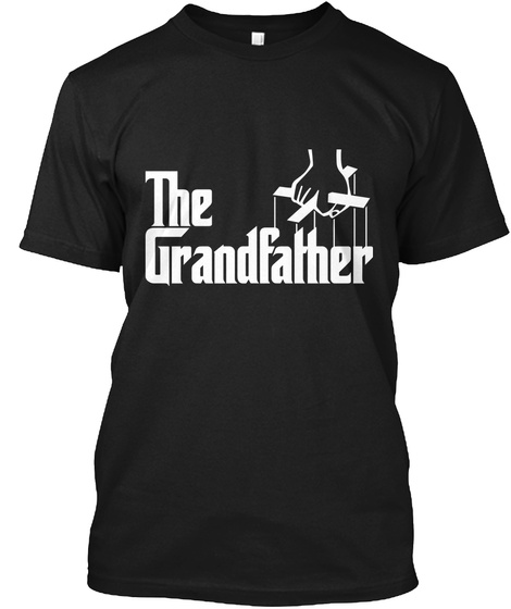 The Grandfather Black T-Shirt Front