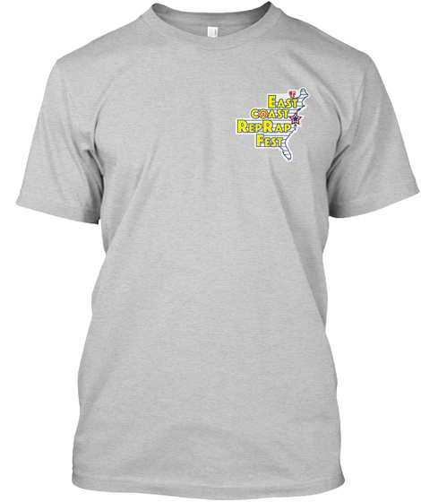 East Coast Reprap Fest Light Steel T-Shirt Front