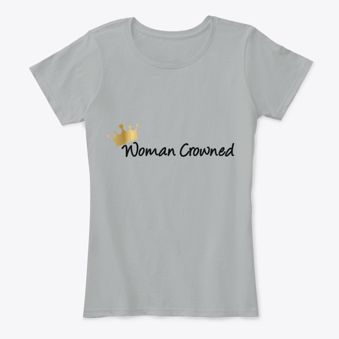 Woman Crowned Grey T-Shirt Front
