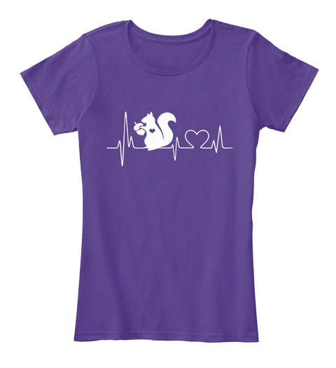 Limited Edition   Squirrel Heartbeat Purple T-Shirt Front