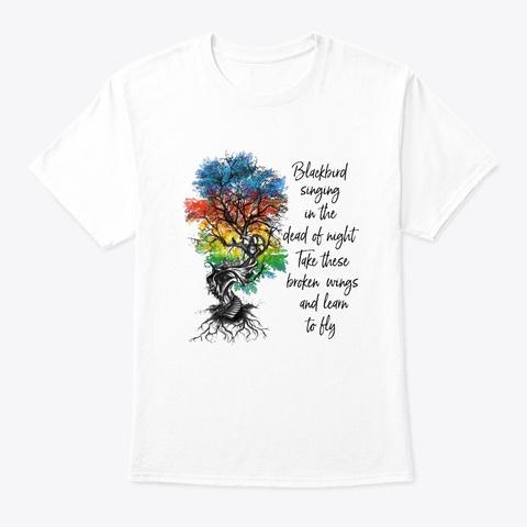 Flower Children Blackbird  Costume White T-Shirt Front