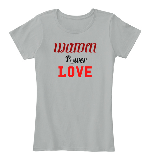 P Wer Love Grey T-Shirt Front