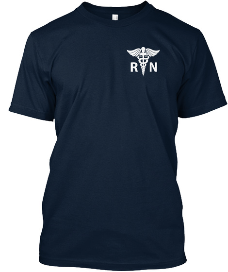 R N New Navy T-Shirt Front