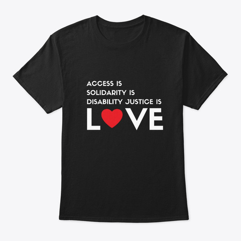 Love Is… [Assorted Colors] Black T-Shirt Front