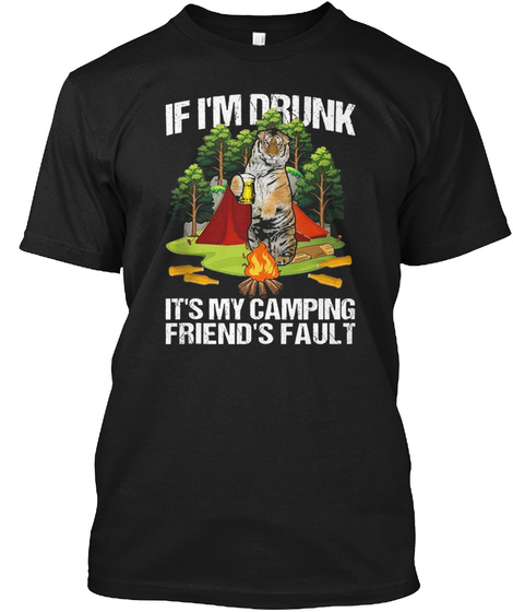 Tiger Beer Camping Black T-Shirt Front