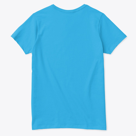 Sewing One Stitch At A Time Aquatic Blue  T-Shirt Back