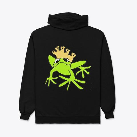 King Frog  Black T-Shirt Back