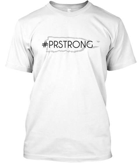 #Prstrong White T-Shirt Front