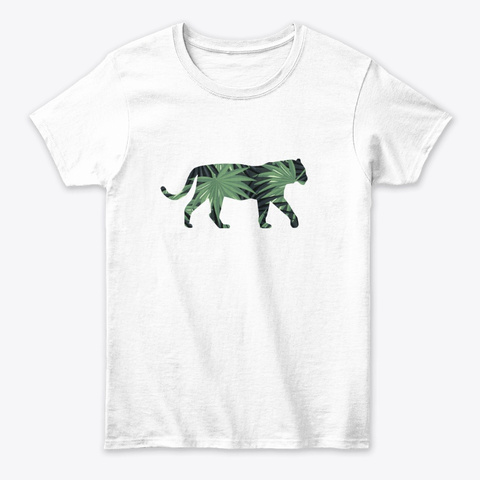 Palmetto Tiger White T-Shirt Front