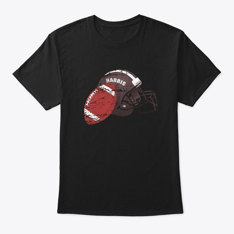 American Football Harris Black T-Shirt Front