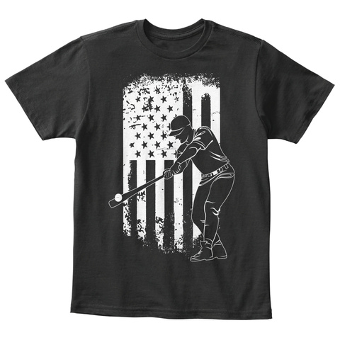 The Great American Pastime   Youth Black T-Shirt Front