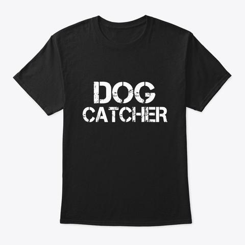 Halloween Dog Catcher Costume T Shirt Black T-Shirt Front