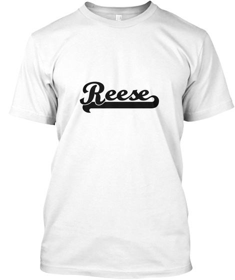 Reese White T-Shirt Front