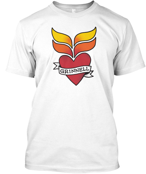 Grinnell  White T-Shirt Front