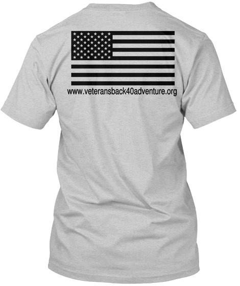 Www.Veteransback40adventure.Org Light Steel T-Shirt Back