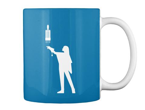 Falconer 4 Woman Mug [Int] #Sfsf Royal Blue Mug Back