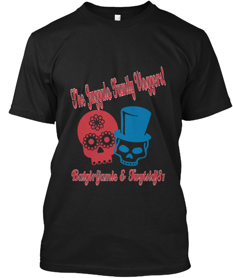 The Juggalo Family Vloggers! Batgirljamie & Twytsidj81 Black T-Shirt Front