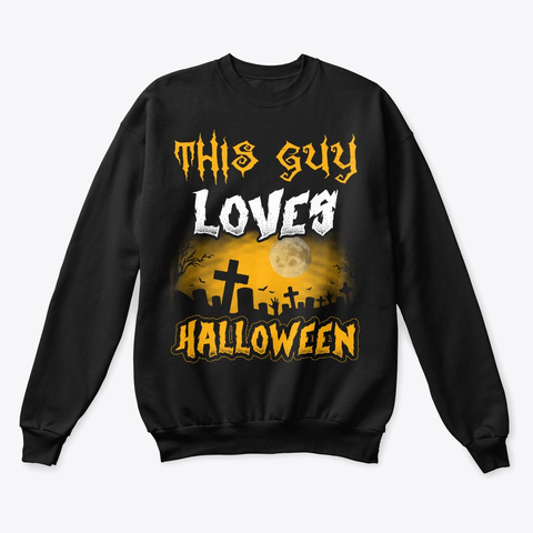 This Guy Loves Halloween 2019 Tomb Black T-Shirt Front