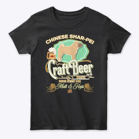 A Chinese Shar Pei Gifts Black T-Shirt Front