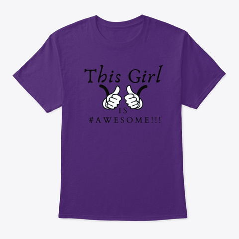 This Girl Is #Awesome Purple T-Shirt Front